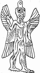 Amulet formed by the figure of Pazuzu, the god of storms, cyclones and hurricanes.