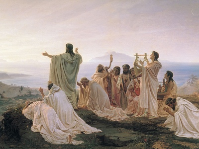 Pythagoreans celebrate sunrise, by Fyodor Bronnikov [19th cent.] (Public domain image)