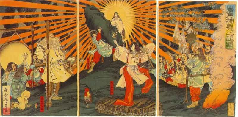 shinto creation story Japanese creation myth long ago all the elements were mixed together with one germ of life.