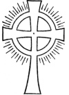 Figure 2. The Symbol of the Rosy Cross. (Conventionalized)